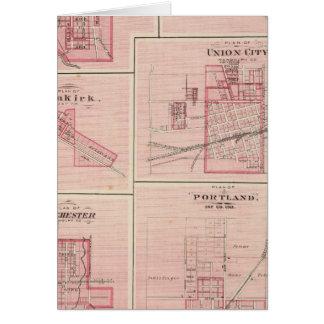 Plan von Portland, Jay Co, Ind mit Camden Karte