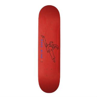 Planche à roulettes TAEKWONDO DWICHAGI back kick 18,7 Cm Mini Skateboard Deck