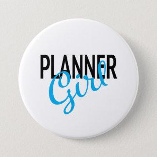Planer-Mädchen-Knopf Runder Button 7,6 Cm
