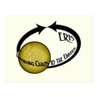 Planet Eris, das Chaos zum Universum holt Postkarte