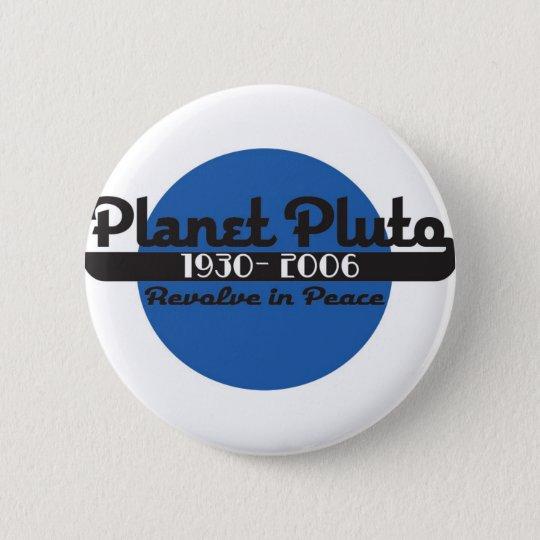 Planet Pluto Runder Button 5,1 Cm