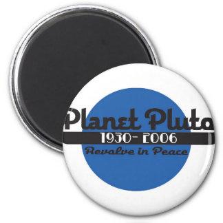 Planet Pluto Runder Magnet 5,1 Cm