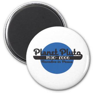 Planet Pluto Runder Magnet 5,7 Cm
