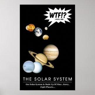 Planet Pluto WTF!? Lustiges Poster