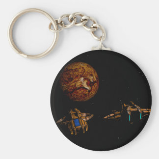 Planet und starship schlüsselanhänger