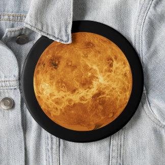 Planet Venus vom Weltraum-Tunnel-bohrwagenknopf Runder Button 15,3 Cm