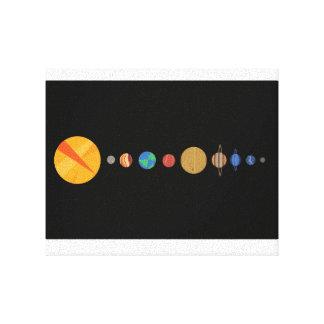 Planeten ausgerichtet leinwanddruck