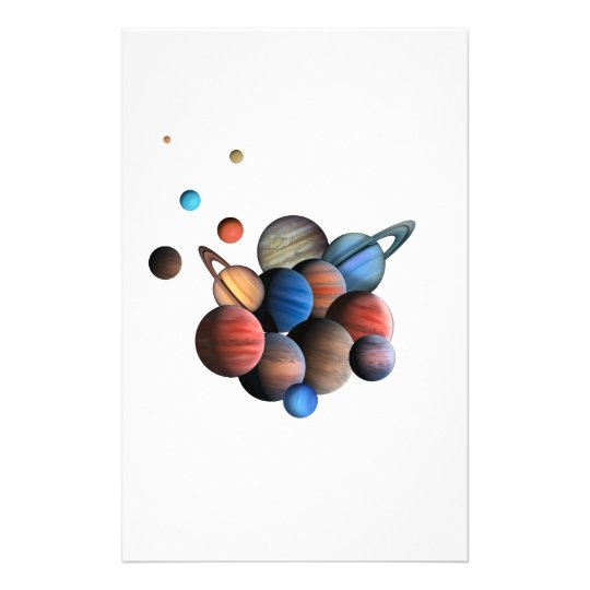 Planeten Briefpapier