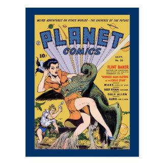 Planeten-Comicen keine 20 Postkarte