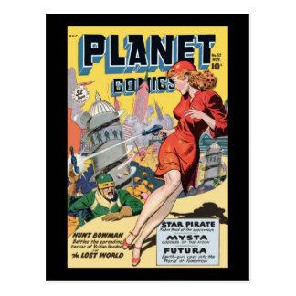 Planeten-Comicen Postkarte