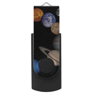 Planeten des Sonnensystems Swivel USB Stick 2.0