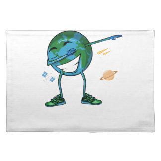 Planeten-Erdbetupfen Stofftischset