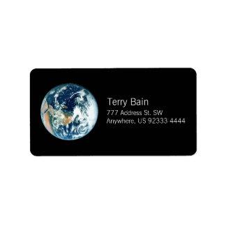 Planeten-Erde Adressetiketten