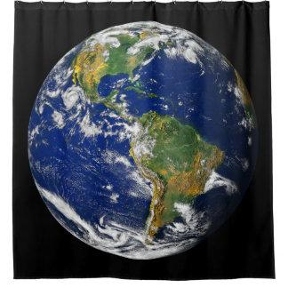 Planeten-Erde Duschvorhang