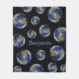 Planeten-Erde Fleecedecke
