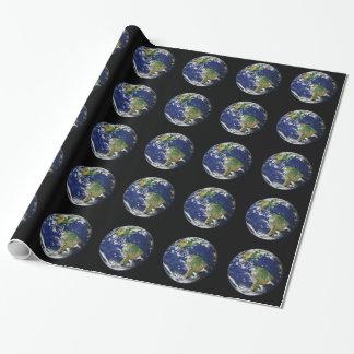 Planeten-Erde Geschenkpapier