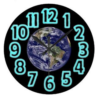Planeten-Erde Große Wanduhr