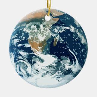 Planeten-Erde Keramik Ornament
