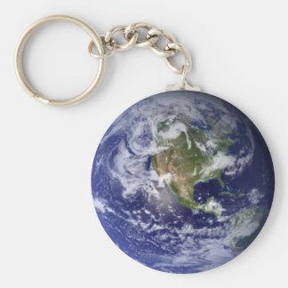 Planeten-Erde Keychain. Schlüsselanhänger