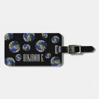 Planeten-Erde Kofferanhänger