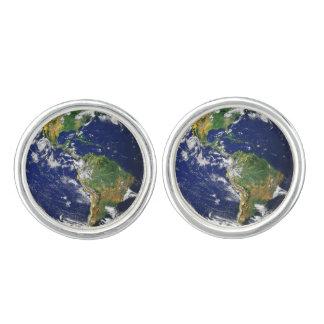Planeten-Erde Manschetten Knöpfe