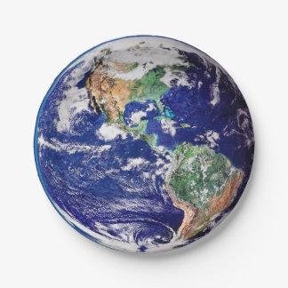 Planeten-Erde Pappteller