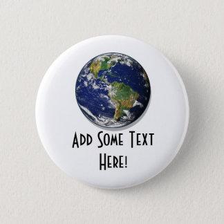 Planeten-Erde Runder Button 5,7 Cm