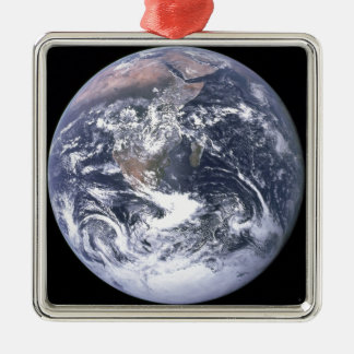 Planeten-Erde - unsere Welt Silbernes Ornament