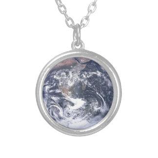 Planeten-Erde - unsere Welt Versilberte Kette