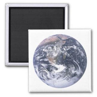 Planeten-Erde vom Raum-Tag der Erde Quadratischer Magnet