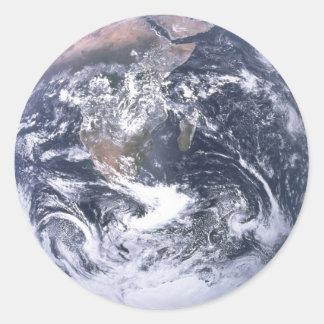 Planeten-Erde vom Raum-Tag der Erde Runder Aufkleber