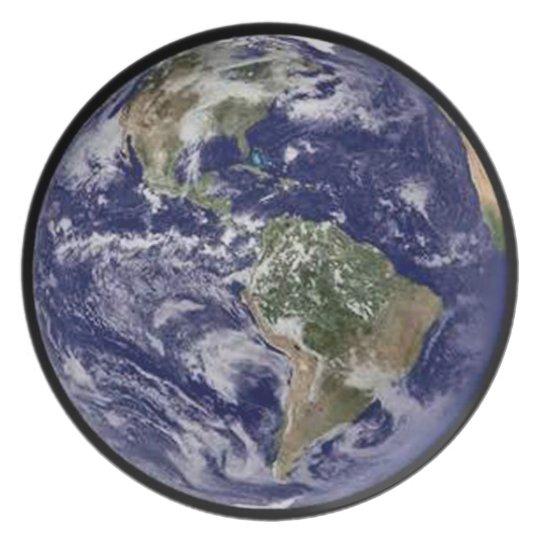 Planeten-Erdgroßer Teller