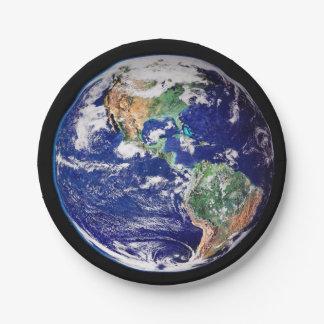 Planeten-Erdpapierplatte Pappteller