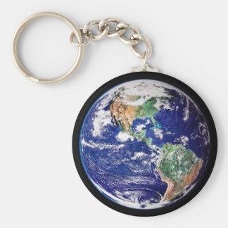 Planeten-Erdschlüsselkette Schlüsselanhänger