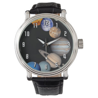 Planeten-Fotos Solarsystemmontage-JPL Armbanduhr