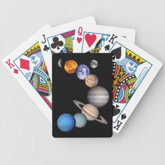 Planeten-Fotos Solarsystemmontage-JPL Bicycle Spielkarten