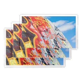 Planeten-Graffiti Acryl Tablett