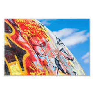Planeten-Graffiti Fotodruck