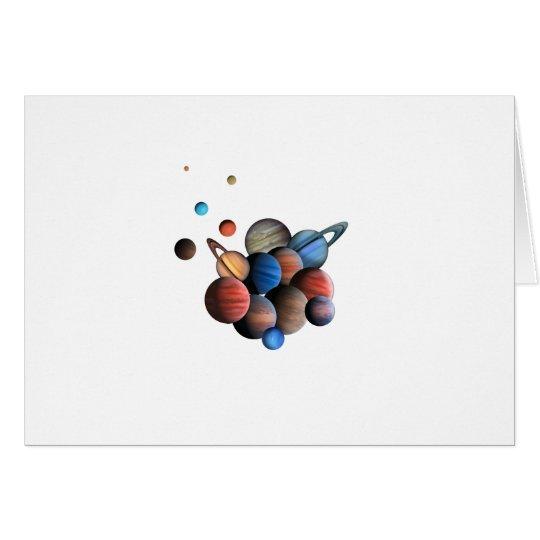 Planeten Grußkarte