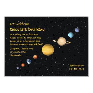 Planeten in der Raum-Einladung 12,7 X 17,8 Cm Einladungskarte