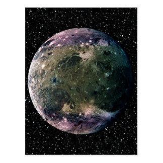PLANETEN-JUPITERS Stern-Hintergrund ~ MONDES Postkarte