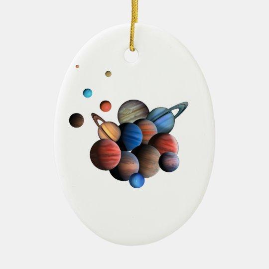 Planeten Keramik Ornament