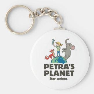 Planeten-Logo keychain PETRA Schlüsselanhänger