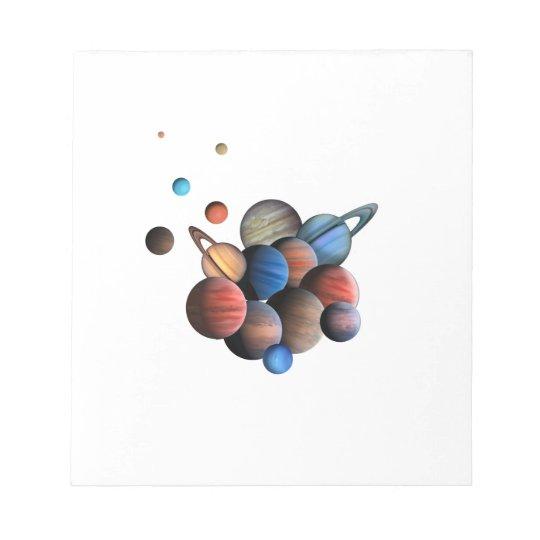Planeten Notizblock