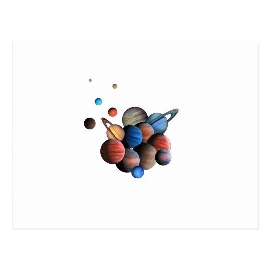 Planeten Postkarte