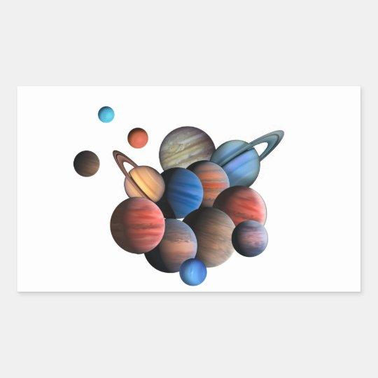 Planeten Rechteckiger Aufkleber