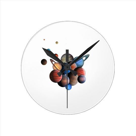 Planeten Runde Wanduhr