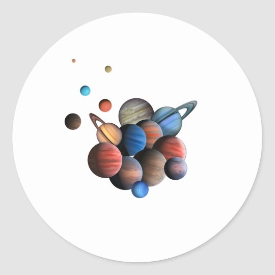 Planeten Runder Aufkleber