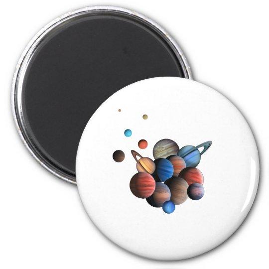 Planeten Runder Magnet 5,7 Cm