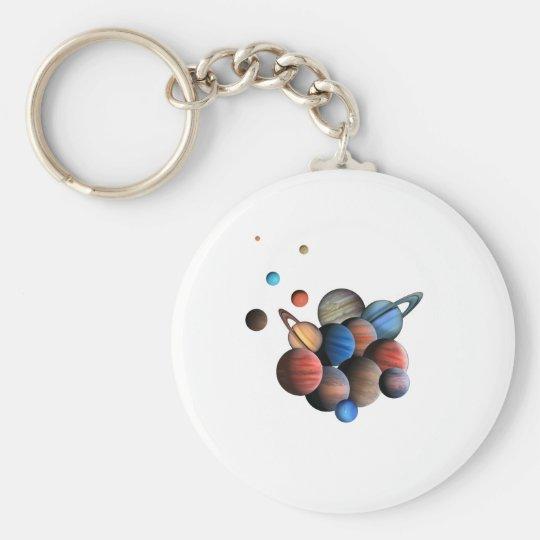 Planeten Standard Runder Schlüsselanhänger
